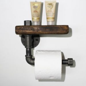 Industrial pipe toilet roll holder/ rustic toilet roll holder/toilet roll holder