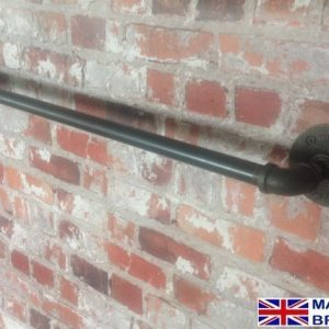 Industrial chic towel rail