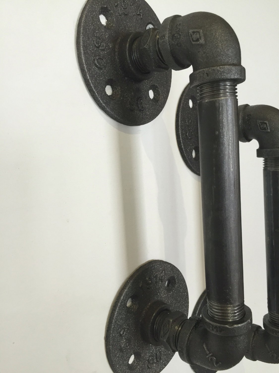 Pair of Industrial chic door handles/industrial pipe door handles (2 handles)