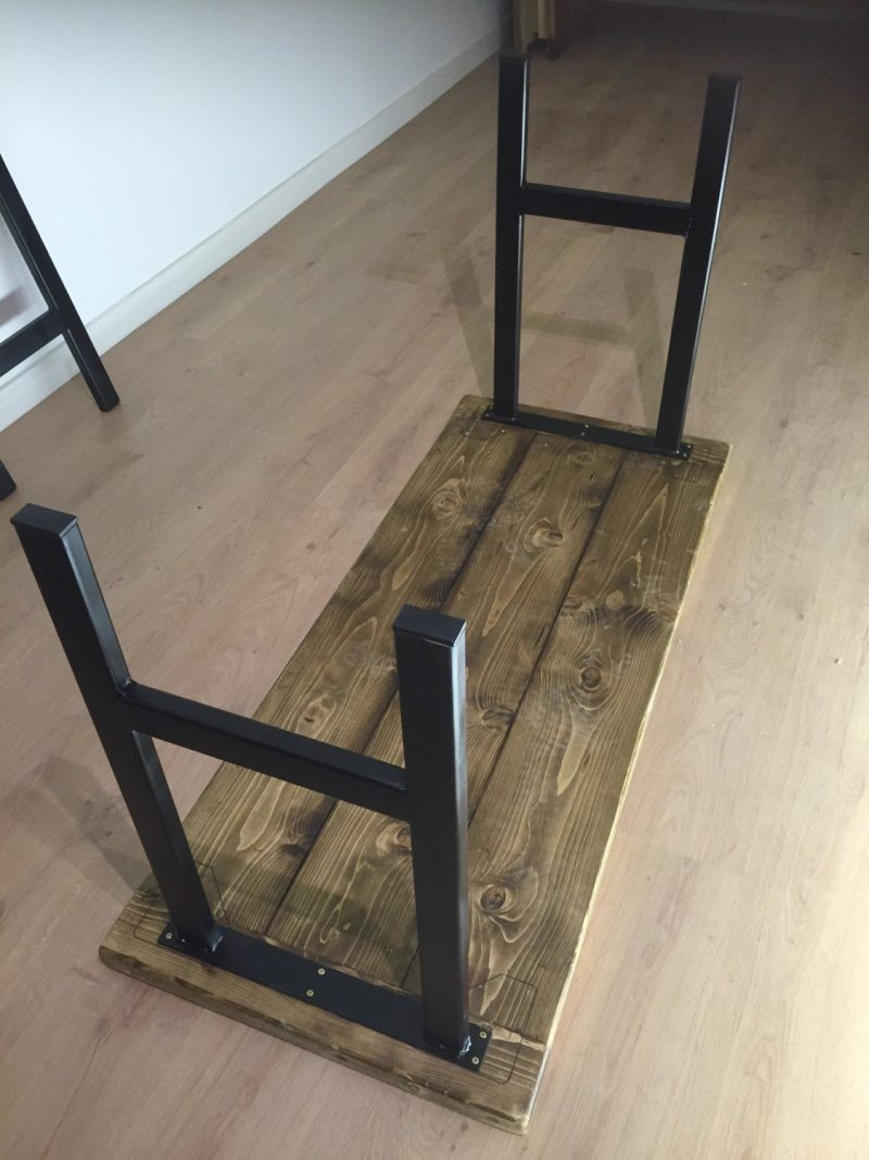 Industrial chic metal table legs