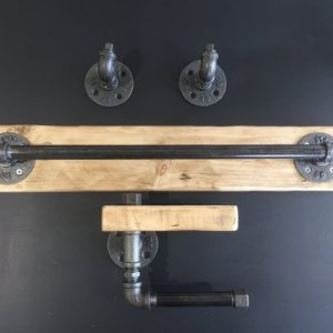 Industrial chic bathroom set