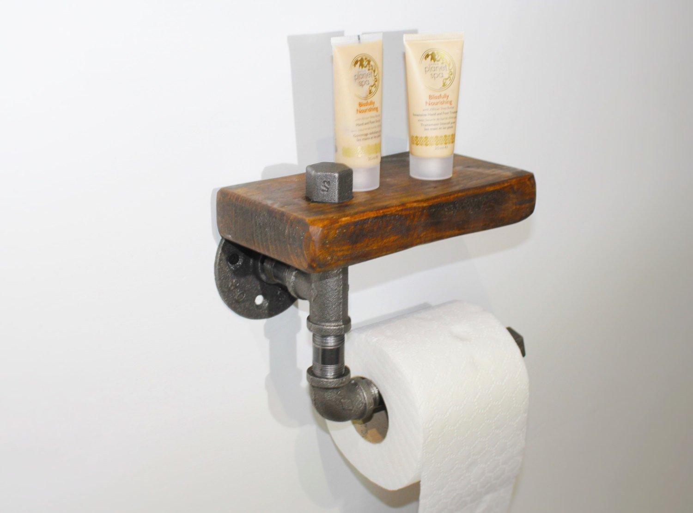 Industrial pipe toilet roll holder/ rustic toilet roll holder/toilet roll holder