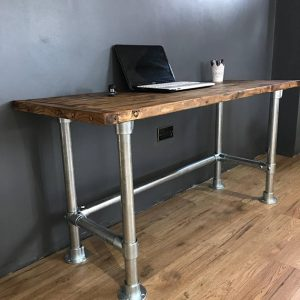 Writing desk/PC Table With Industrial Pipe Legs
