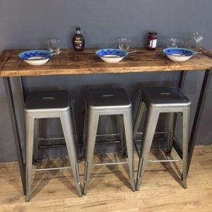 Reclaimed Wood Breakfast Bar Table