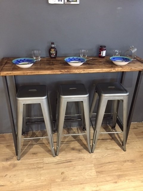 Reclaimed Wood Breakfast Bar Table